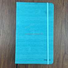 High Quality PU Leather CaseBound notebook A5 Journals with Elastic Band Strap closure and Silk Book Marker Custom colour