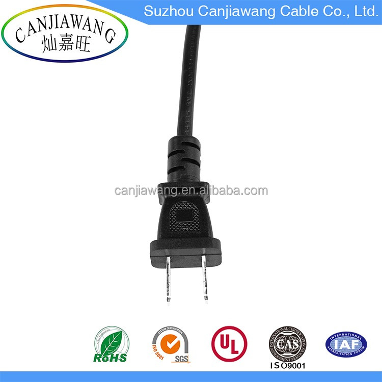 High Quality Waterproof 2 Pin AC Power Cord Plug/USA Plug to IEC C13