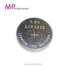 Newest Product!!! Wholesale Supplier 2016 MP Rechargeable Batteries Button Battery 3.6v LIR2032 Li-ion Battery