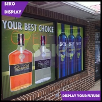 Bar window cling decals for advertising