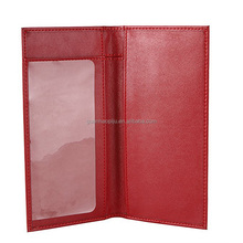 Personalized Faux Leather Cheque Book Holder Wallet With Pen Holder