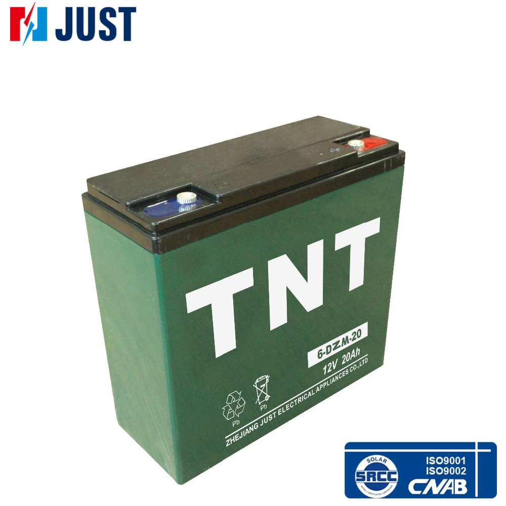 Maintenance free 6-dzm-20 12v 20ah electric scooter battery