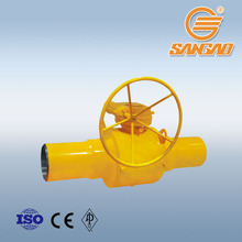 DN500 PN25 stainless ball valve using in natural gas and heating supply pipeline