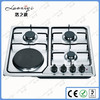Electric Burner Indoor Gas Stove with Natural Gas/ LP Gas Stainless Top