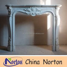Norton Standard size european natural stone marble fireplace NTMF-F444R