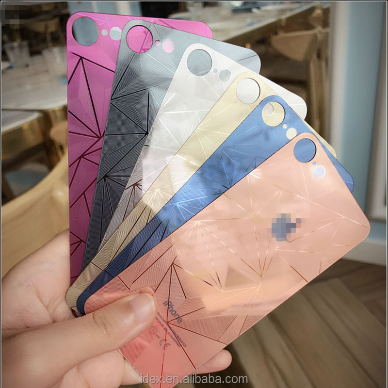 high quality color tempered glass screen guards for iphone 7 plus