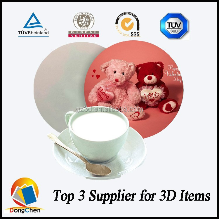 Plastic photo custom recycled rubber plastic 3d coaster