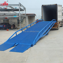 Horse trailer loading and unloading platform forklift and truck ramp