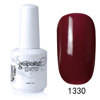 bright red color popular nail art glitter shape gel polish