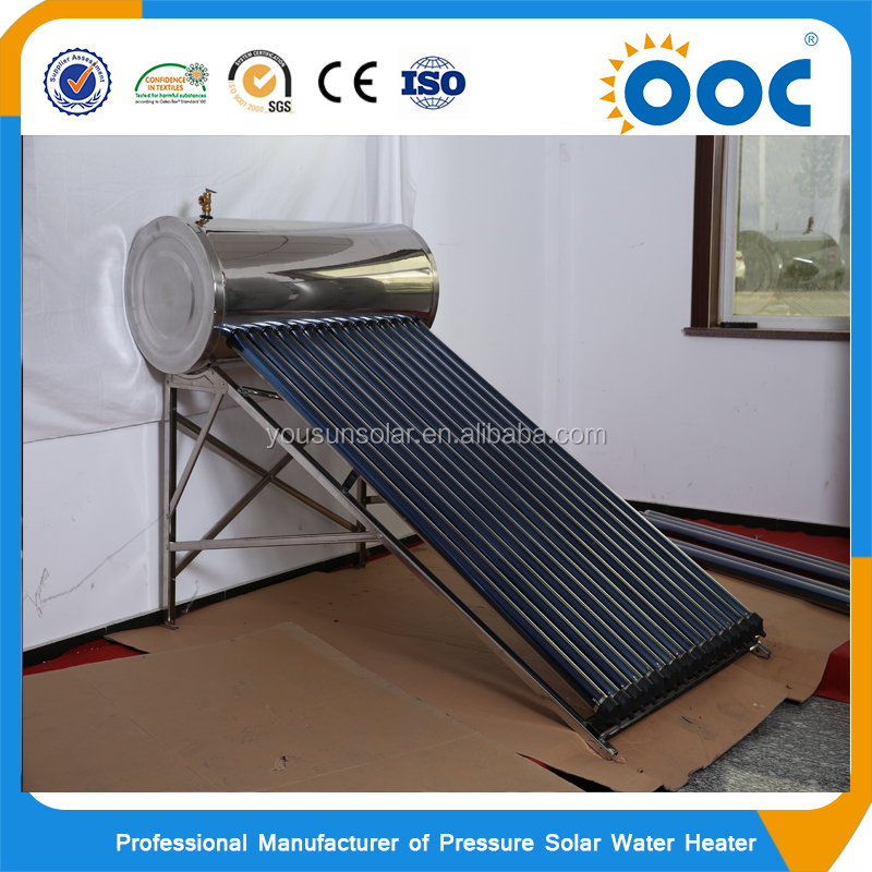 Integrated pressurized solar water heater system