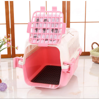 Wholesale Cheap Portable Transport Box Plastic Flight Cage Pet Air Carrier for Small Dog/Cat