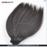 Most Popular Sexy And Shaggy Hair Style Best Kinky Straight Virgin Brazilian Hair Natural Color Afro Twist Human Hair Extension