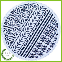 Watermelon Shaped Large Mandala Round Towel Beach Softtextile