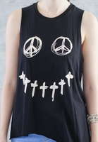 Peace Smiley Tank