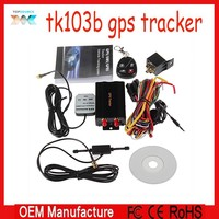 GSM Alarm tracking SD Card Slot Anti-theft/car alarm system Vehicle gps tracker tK103B with Remote Control