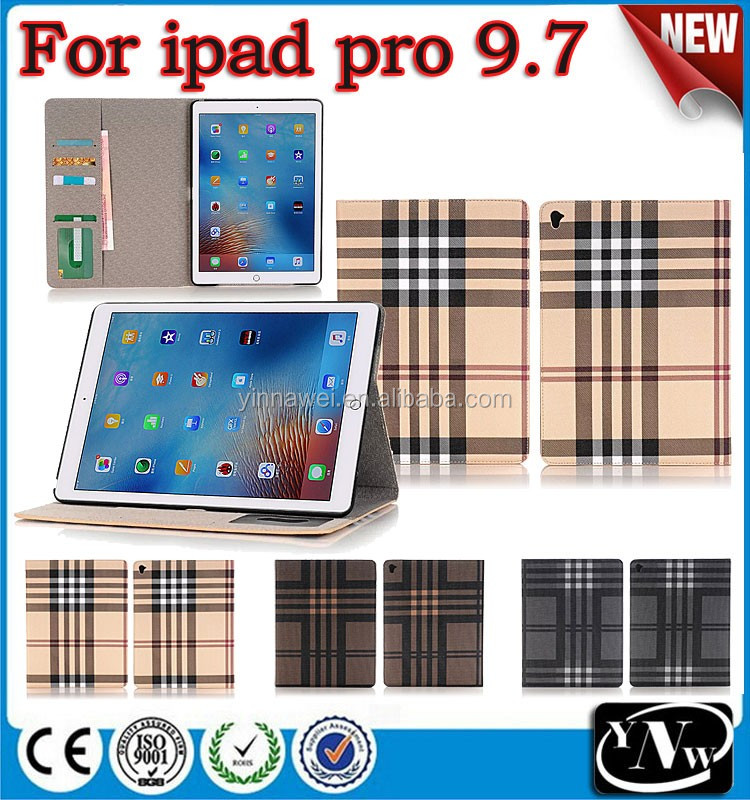 2016 British style folio protective tablet flip cover leather case for ipad pro 9.7