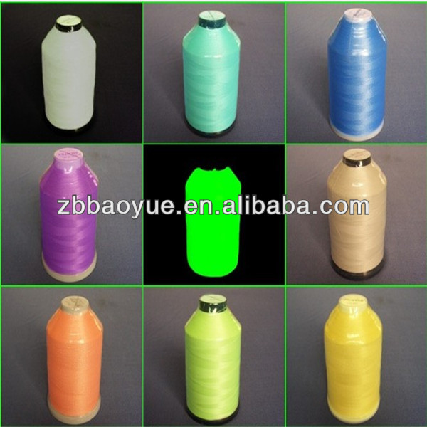 polyester glow in the dark embroidery thread