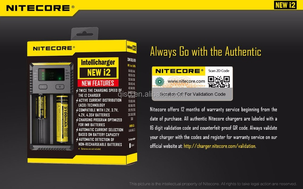 Laptop New nitecore intellicharger I2 18650 battery charger portable rechargeable nitecore intelicharger I2 li-ion charger