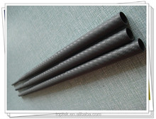3k unpainted telescopic pole, 3k surface weave telescopic pole, carbon fiber telescopic pole, surface pole