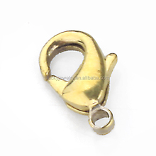 high quality bracelet findings nickel free raw metal brass lobster claw adjustable clasp for jewelry making