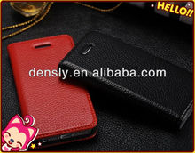 Factory cheap price flip leather case with stand for iphone5
