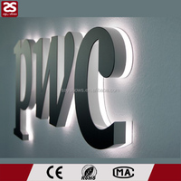 acrylic backlit letters outdoor iluminated led advertising sign