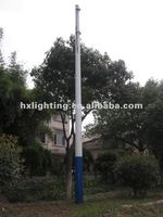 Conical steel lamp post