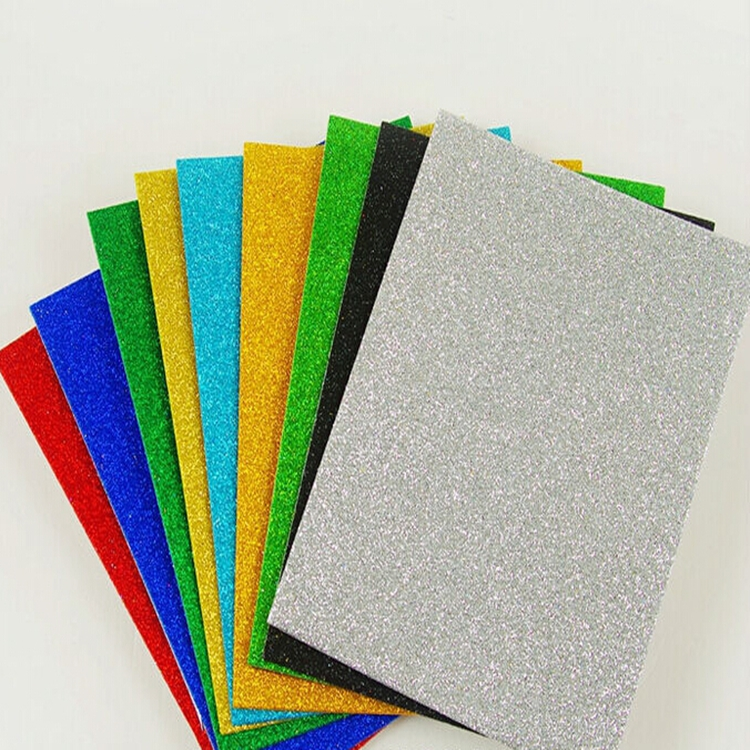 Diy kids craft a4 self adhesive glitter eva foam sheet for Best glue for craft foam