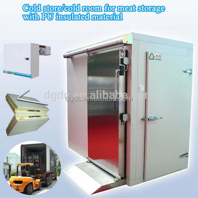 Cold store/cold room for meat storage with PU insulated material