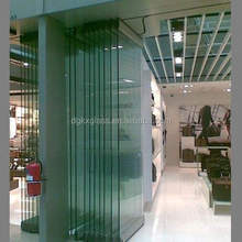 New design clear Tempered glass door frameless folding glass door /folding sliding stacking door