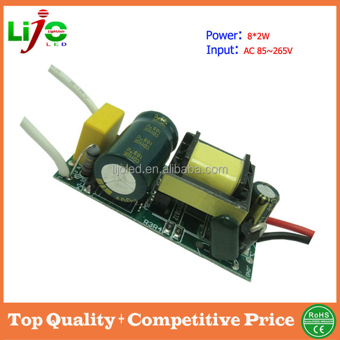 14-20W 600ma constant current ac85~265V led power supply high voltage led lamps driver