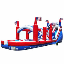 high quality Big Country Dual Lane inflatable water slide/ waterslide/ wet dry slide for sale