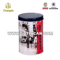 Tall Round Chocolate Tin Packaging Box CD-021