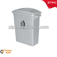 Elegance Grey Trash Bin 65L with cover