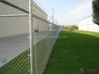 Welded metal dog kennel of chain link fence
