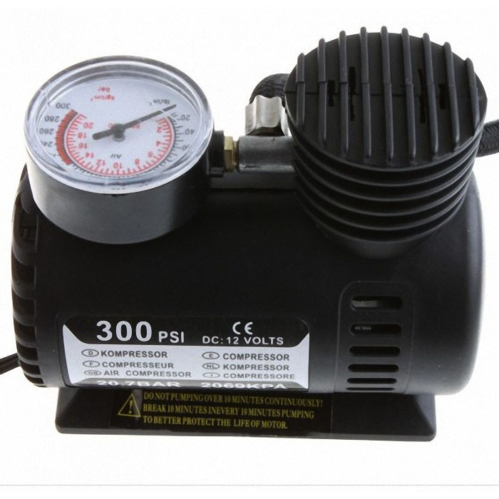 2016 mini 12V Auto electric Air Compressor Car Tire Air Inflator Pump 300PSI