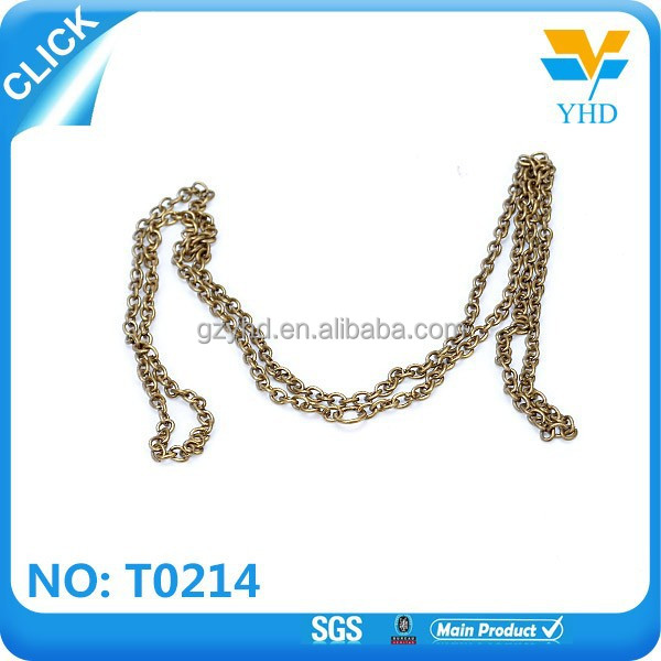 custom 2017 new product metal chain for bag accessories