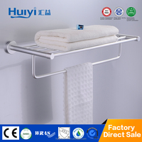 wall mounted folding household bathroom accessory aluminum towel rack HY-6205