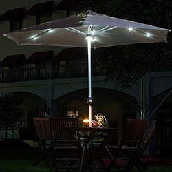 outdoor sun garden umbrella solar panel
