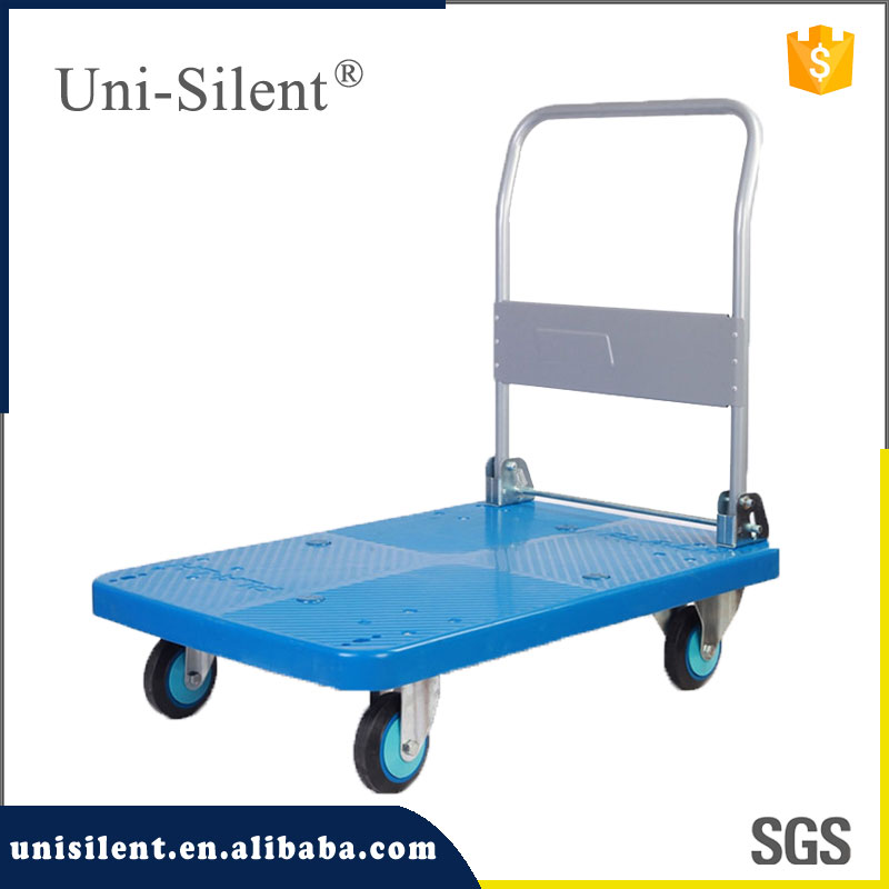 plastic platform trolley luggage trolley folding hand trolley PLA300Y-DX
