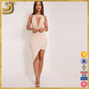 Women's Keyhole with Metal Open-Chest Bodycon Party Dress