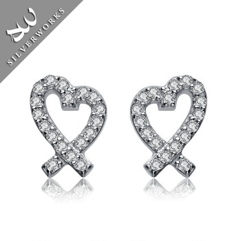 2016 High Polish Silver Earring Jewelry Silver 925 Stud Earrings For Women