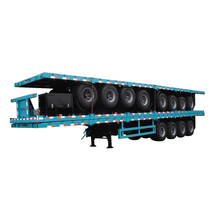 Tri-axle 40ft Flatbed Shipping Container semi Trailer for hot sale in Thailand