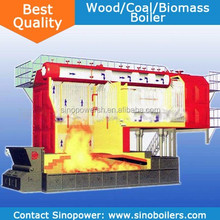 Coal / Wood Fired Boiler 10-35TPH Water Tube Type Exported Europe High Quality