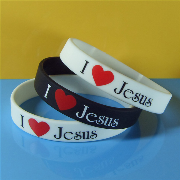 I love Jesus printed silicone wristbands,Hot sales imprinted silicone bands,Imprinted silicone bands