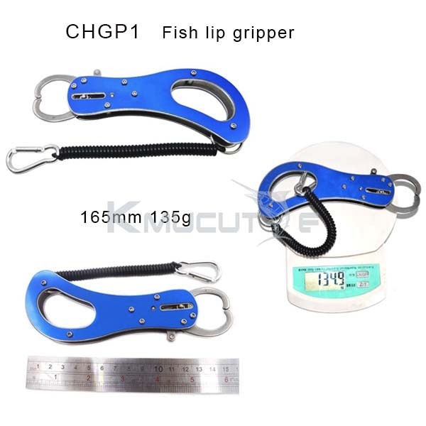 Top grade quality aluminium fishing lip grips fish gripper with EVA handle in stock CHGP1