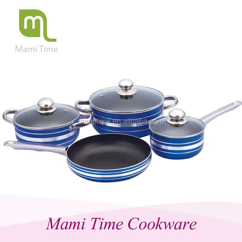 New design products clay cookware coated with blue color