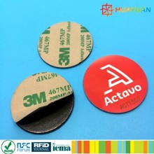 Variable data numbering or encoding NTAG216 13.56MHz adhesive anti metal TAG with printable unique QR-code