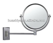 HSY-1468 swivel makeup magnifying vanity brass stand for floor mirror