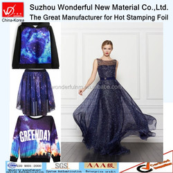 Multicolor hot stamping foil for t-shirt&skirt&dressing